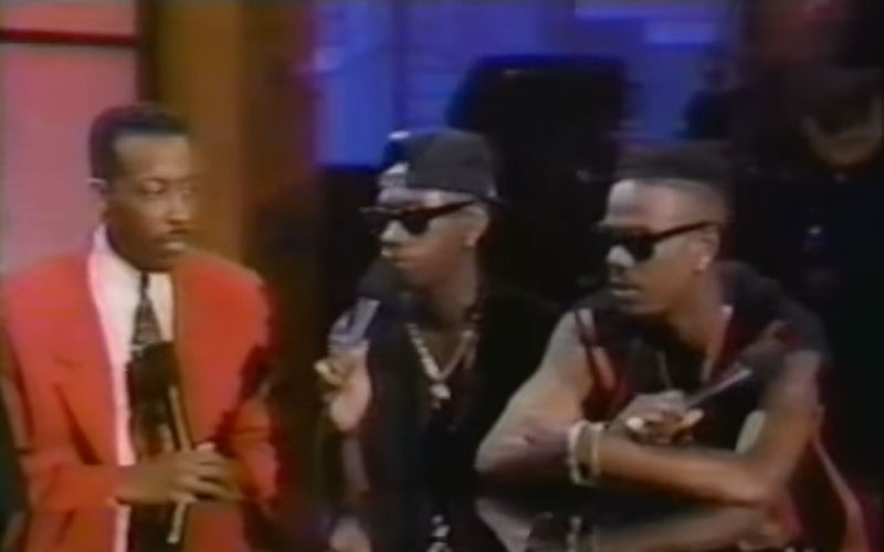 Image still of the music video Interview on Arsenio Hall with stevie wonder and mary j. blige by jodeci
