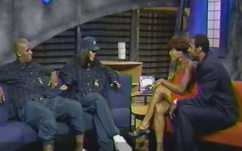 Image still of the music video R. Kelly & Aaliyah BET interview by aaliyah