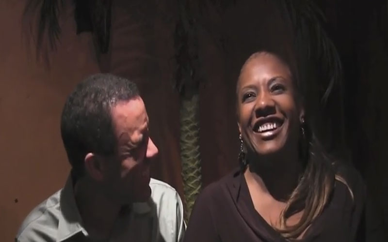 Image still of the music video interview with vocalScatWorkshop.com by alyson williams